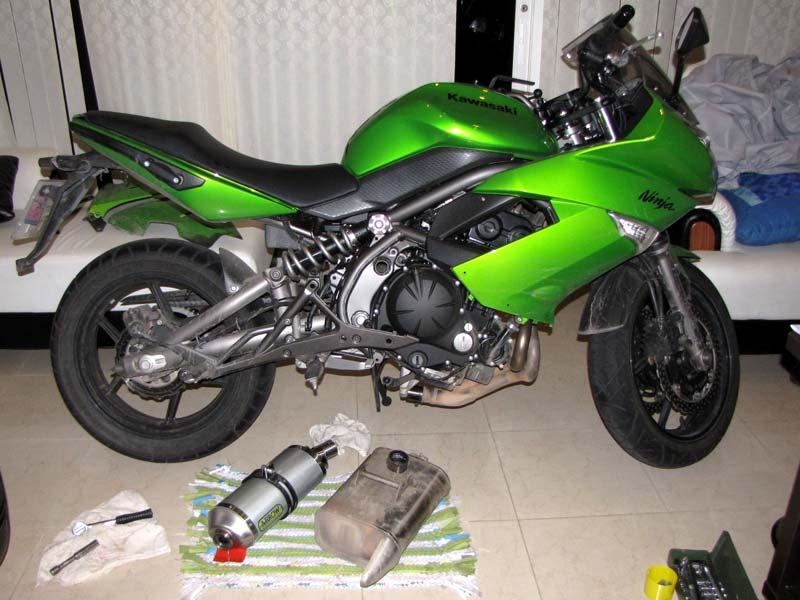 Arrow Exhaust on 2010 Kawasaki Ninja 650R - KawiForums - Kawasaki ...
