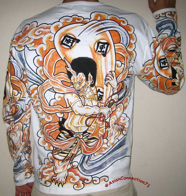 Japanese Wind Tattoo: FUJIN Japan God Of Wind LONG SLEEVE Irezumi Tattoo WORK