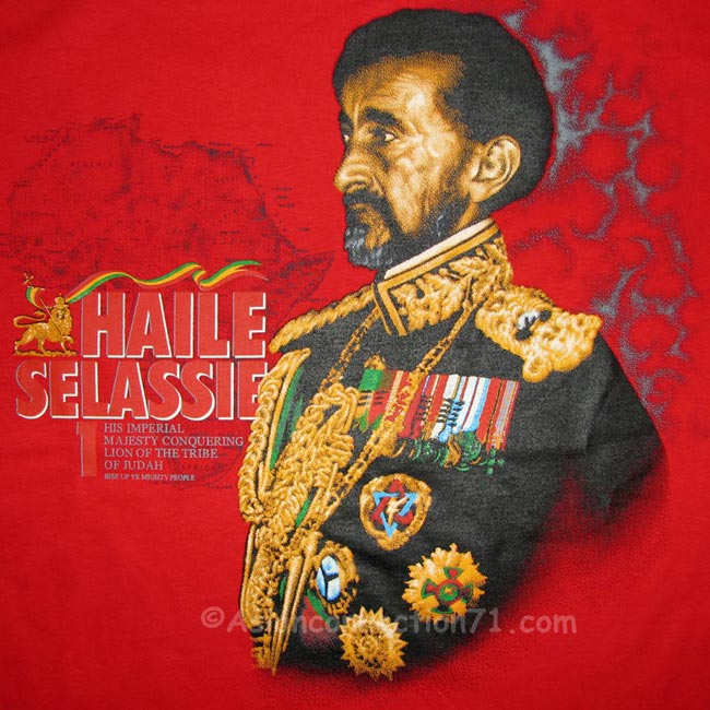 Haile Selassie Riding Lion