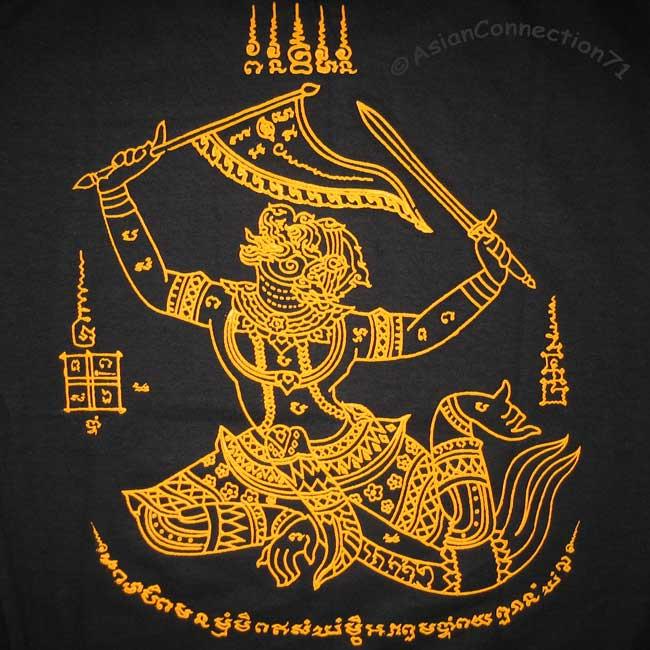 features a traditional Thai Tattoo of Hanuman! Hanuman, the Monkey God,