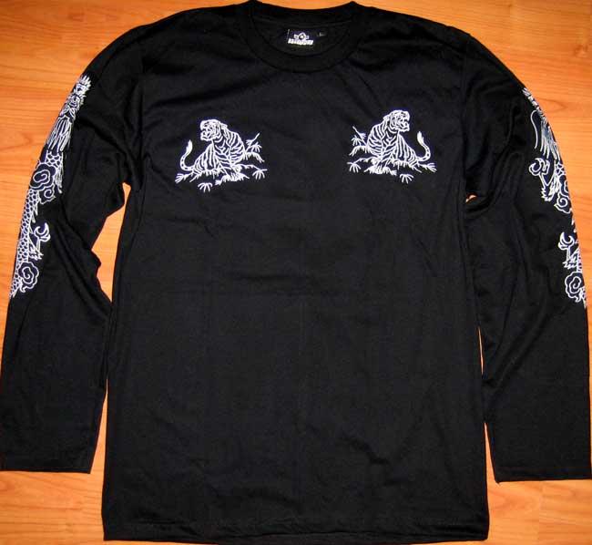 Japan tiger dragon long sleeve embroidered t shirt xl ebay