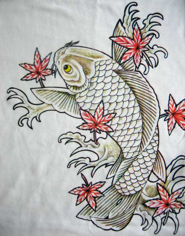 Stunning rich and detailed Yakuza-style Irezumi prints of Koi Fish and