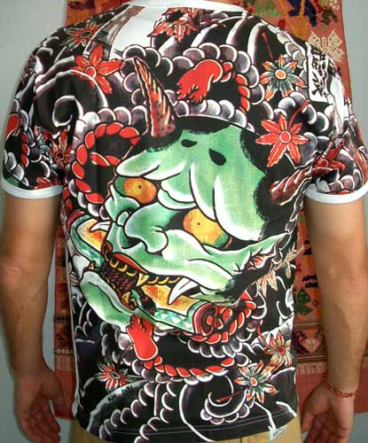 Top Free Oni Irezumi Backgrounds: ONI Devil Japan IREZUMI Tattoo SHORT Sleeve WORK Biker T