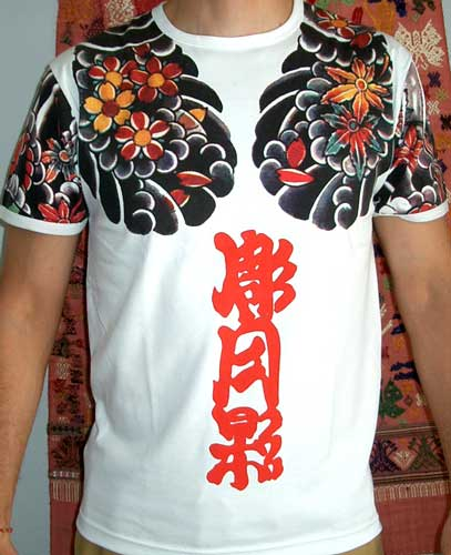 ONI Devil Japanese IREZUMI Tattoo SHORT Sleeve Shirt M For Sale