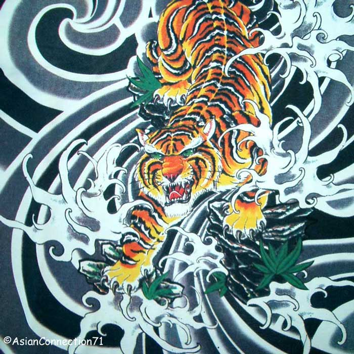 Label: Best Tiger Tattoo Design On Back Body Beautiful Original Top Quality