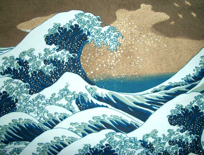 Famous Wave Painting On Shirt