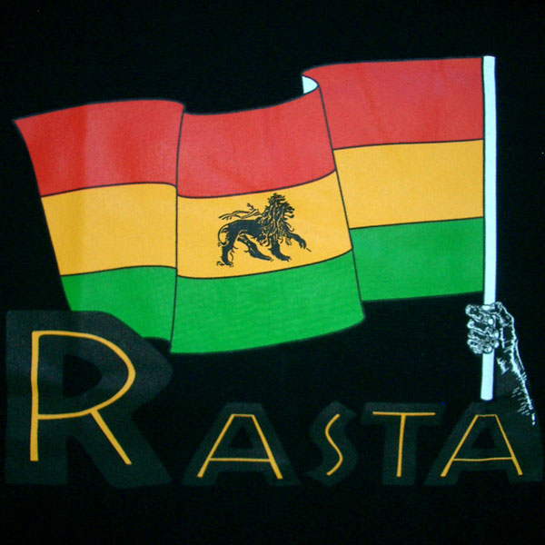 RASTA FLAG Lion of Judah Retro REGGAE Track Jacket M Rastafarian Flag