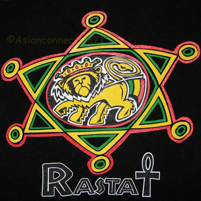 Details about RASTA LION of JUDAH New Roots REGGAE T-Shirt M Black