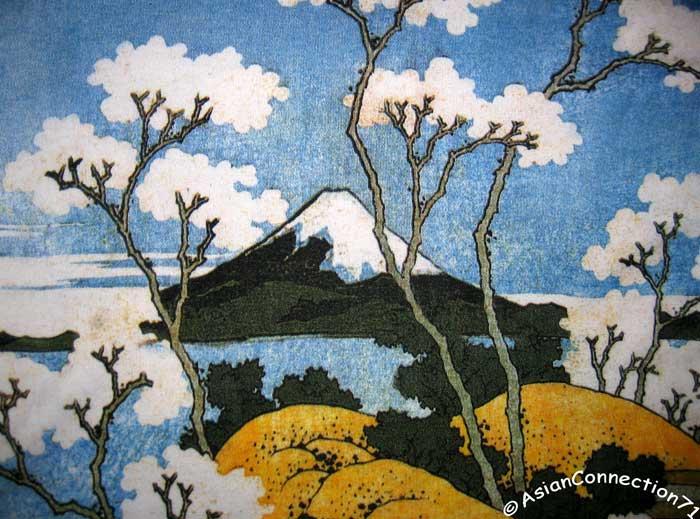 FUGAKU Hokusai UKIYOE Japanese Fine Art Print Dress Misses S M L ...