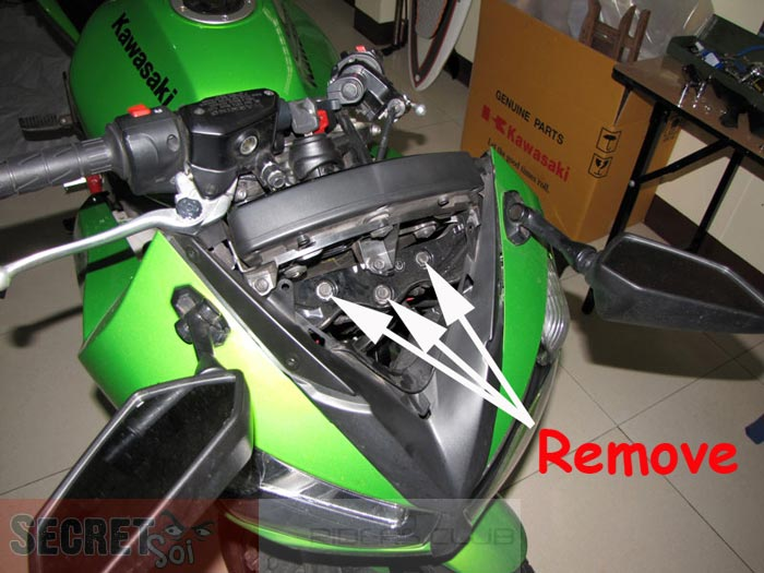 Kawasaki Ninja 650R ER6f Motorcycle Fairing Removal Asianconnection71